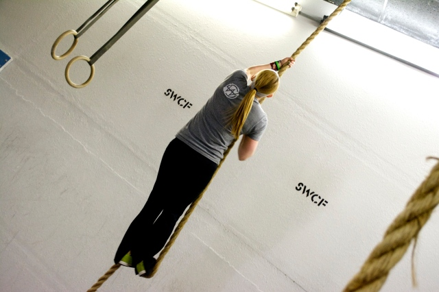 Climbing the rope is not just about strength; you must utilize good technique and footwork to climb efficiently.